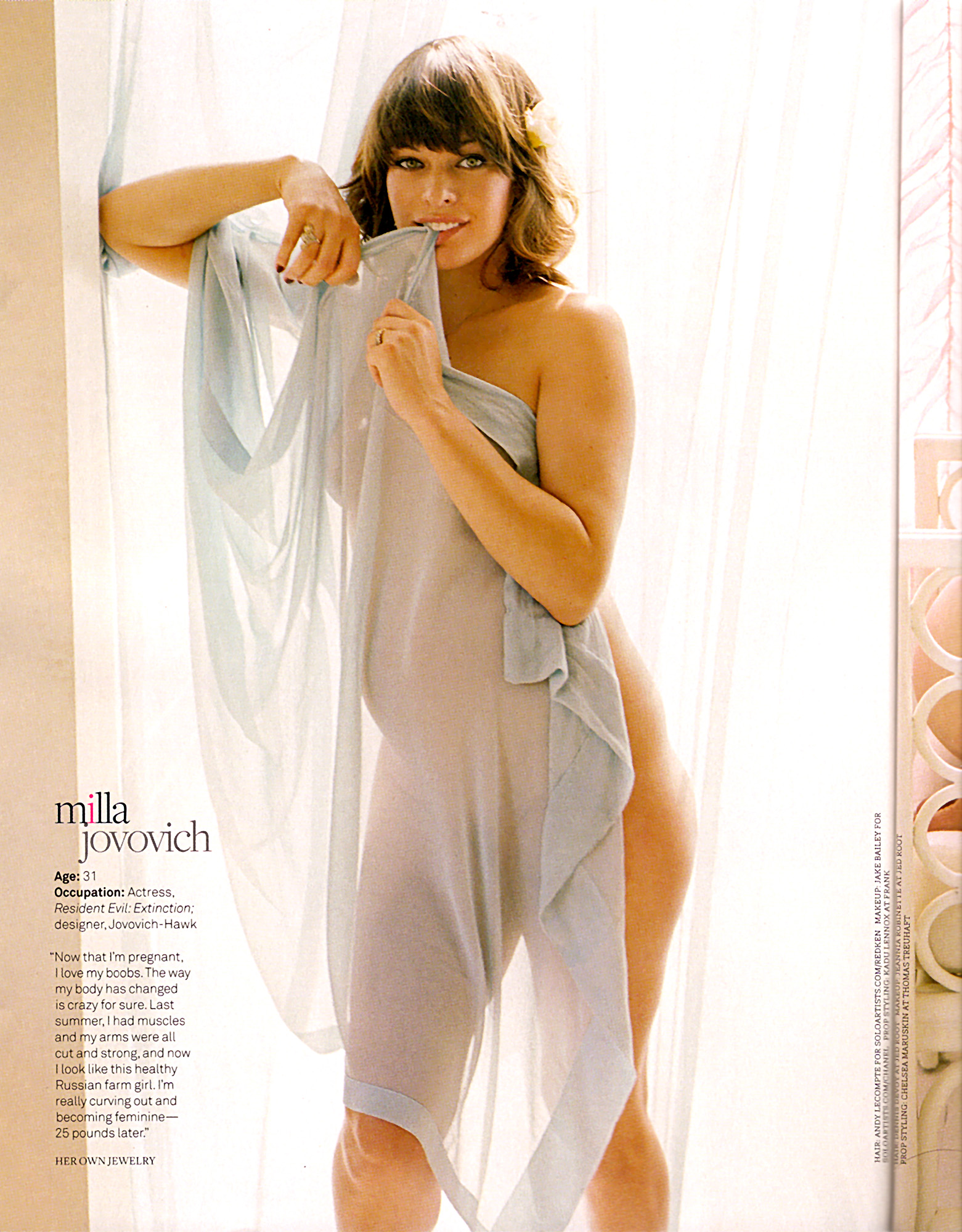 The Baby Bump Project: Milla Jovovich: rounding it out for ...